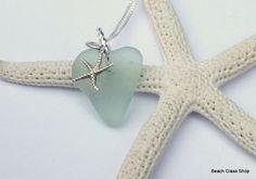 OOAK Seaglass Heart Necklace!