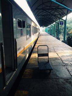 """Train me away"" // taken with: iPhone 4s// edited with: vsco cam. //Location: Stasiun Gubeng, Surabaya, East Java, Indonesia."