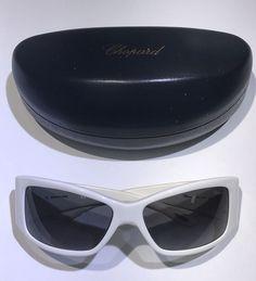 29af4ce411 Authentic Italian Chopard White Rectangular Unisex Small Sunglasses 05   fashion  clothing  shoes