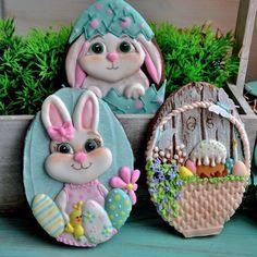 Flower Cookies, Easter Cookies, Easter Treats, Fancy Cookies, Cupcake Cookies, Iced Cookies, Mini Christmas Cakes, Cookie Decorating, Easter Eggs