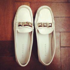MOCASINES DELACUCA WHITE  #loafers #delacuca