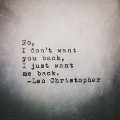Me Back • Leo Christopher
