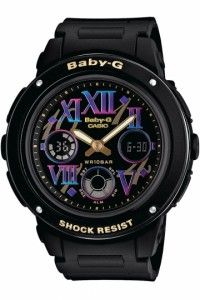 Casio Baby-G Face Coloring Shading Series - Black/Multicolor - Baby G, Casio G Shock, Casio Watch, Digital Watch, Linux, Luxury Watches, Cool Watches, Chronograph, Cool Stuff