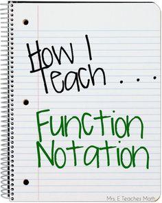 Mrs. E Teaches Math: How I Teach Function Notation   mrseteachesmath.blogspot.com