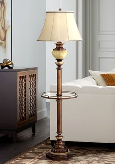 Kathy Ireland 65 High Night Light Glass Tray Floor Lamp - Floor Lamps - Ideas of Floor Lamps Arc Floor Lamps, Contemporary Floor Lamps, Modern Floor Lamps, Floor Lamp Makeover, Tiffany Style Table Lamps, Silver Floor Lamp, Traditional Floor Lamps, Torchiere Floor Lamp