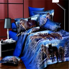Cheap wolf bedding sets, Buy Quality bedding set directly from China sheet set Suppliers: Wolf Bedding sets Bedclothes Duvet cover sets Bed linen bed sheet sets bed sheet Queen size Double Bedding Sets, Blue Bedding Sets, Cheap Bedding Sets, Bedding Sets Online, Queen Bedding Sets, Affordable Bedding, Unique Bedding, Modern Bedding, Bed Sets