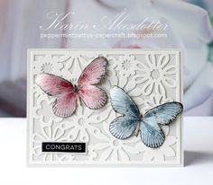 Peppermint Patty's Papercraft: Published Card Saturday - Congrats Butterflies