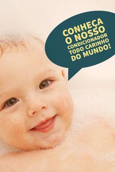 Quando você vai pentear o cabelo do seu bebê, tem choradeira? Agora não tem mais! Vem conhecer o Condicionador da linha Todo Carinho do Mundo!