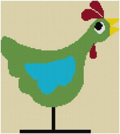 Ms Spunky Funk Cross Stitch 11 of 12 by MartisXSDesigns on Etsy, $4.00. I really like her chicken designs.