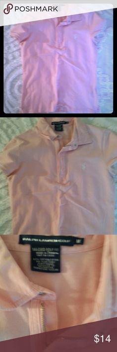 Perfect Pink Ralph Lauren Polo shirt Great polo in very good condition. Zipper. Ralph Lauren Tops