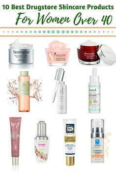 Women always ask me if drugstore skincare products really work as well as the expensive ones & I say YES! Here are 10 awesome budget friendly beauty products that WORK - 10 Best Drugstore Skincare Products for Women 40 Plus - Romy Raves Beauty Care, Beauty Skin, Diy Beauty, Homemade Beauty, Beauty Ideas, Beauty Secrets, Skin Secrets, Beauty Makeup, Nails And More