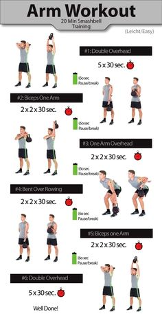 Arm workout for men - kettlebell workout - smashbell workout - Arm workouts for men – Get bigger arms 20 Min Training, Weight Training, Training Workouts, Strength Training, Arm Workout Men, Biceps Workout, Arm Workouts For Men, Arm Exercises Men, Kettlebell Exercises For Arms