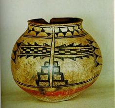 intricately painted jar