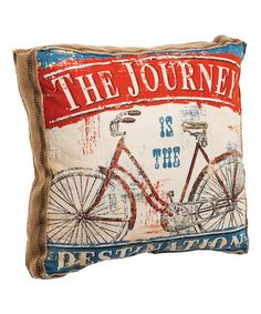 'The Journey is the Destination' Throw Pillow #zulily #zulilyfinds
