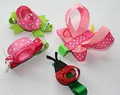 Items similar to Easter Egg Basket Clip - Toddler Hair Clip - Baby Hair Clip - Ribbon Sculpture Sweet Easter Basket Clippie on Etsy. , via Etsy.