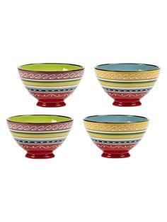 Abbott Assorted Medium Footed Bowl (Set of 4)