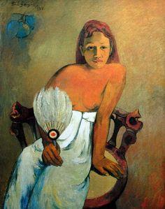 Femme à l' Eventail - 1902 - Paul GAUGUIN