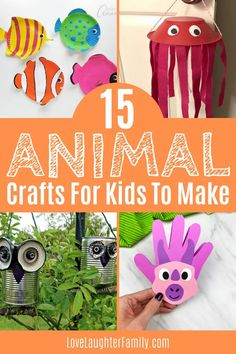 Let your kids get creative and bring their favorite animals to life with these fun animal crafts for kids to make. Easter Crafts For Toddlers, Animal Crafts For Kids, Crafts For Kids To Make, Toddler Crafts, Preschool Crafts, Kids Crafts, Snake Crafts, Fox Crafts, Sheep Crafts