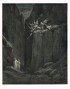 La Divine Comédie - L'enfer - illustration de Gustave Doré gravée par Monvoisin - planche 50
