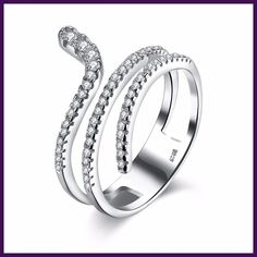 HERMOSA Jewelry New Trendy Style Beautiful design zircon 925 Sterling Silver Charm Size 5,6,7,8 Ring SVR087