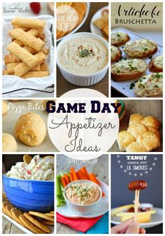 20 appetizer ideas for game day!