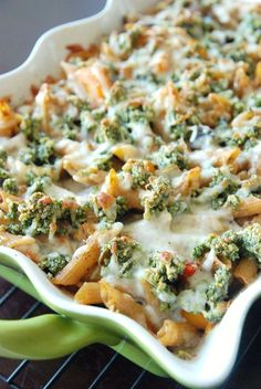 Veggie Penne Pasta with Pine Nut Crunch. Made with six different veggies, Greek yogurt, and whole wheat pasta.