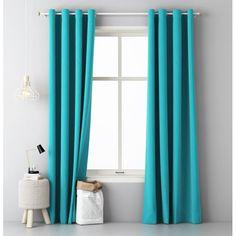 Tyrkysový záves do obývačky - domtextilu. Curtains, Shower, Bathroom, Architecture, Inspiration, Home Decor, Sheer Curtains, Windows, Household