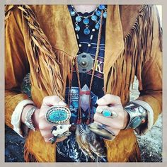 gypsy cowgirl by DISfunshion Magazine ~ featuring Rose Quartz, feathers & braided leather necklace by Victory Jewelry