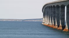 The Confederation Bridge joins the eastern Canadian provinces of Prince Edward Island and New Brunswick, making travel throughout the Maritimes easy and convenient. The curved, 8 mile long bridge is the longest in the world crossing ice-covered water.
