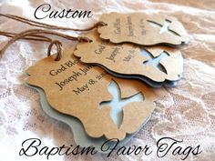 CUSTOM Dove Baptism Favor Tags Personalized / Custom by JDPaperie, $8.00:
