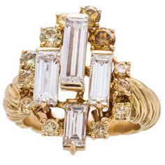 Chaumet Multi Color Diamond Gold Ring 1
