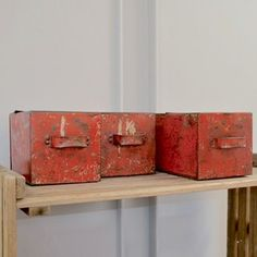 Vintage Red Metal Box - The Hoarde