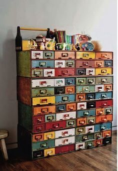 really creative drawer chest with lots of drawers   try making it by yourself but only if you are a professional craftsman