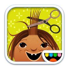 Toca Hair Salon. Greiða, klippa, krulla mismunandi persónur.