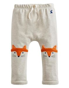 Joules Baby Boys Character Trousers, Cream Marl. With tactile 3D ears on the knees these jersey lounge style trousers are not only eye-catching but they're perfect for curious little ones too.