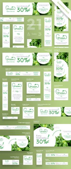 Organic Food Banner Template PSD, Vector EPS