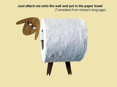 Funny Wall Decal made of veneer  Sheep / Goat  Toilet by AntGl