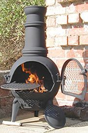 Buy the Small Palma Cast iron Chiminea online: Largest range of Cast iron Chimineas UK online.