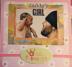 Daddy's girl!  More fun layouts at www.DebsScraps.com.
