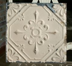 Genuine Antique Ceiling Tile  12 x 12  by VINTAGEHOMEACCENTS