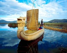 Reed boat, Lake Titicaca, Peru