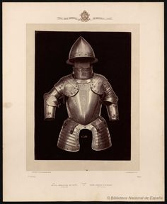 Media armadura de niño siglo XVI. Laurent, J. 1816-1886 — Fotografía — 1868?
