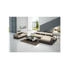 Michele Italian Leather Sectional via Polyvore featuring home, furniture, sofas, italian leather furniture, italian leather sofa, italian leather sectional and italian leather couches