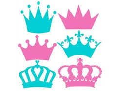Check out our princess svg selection for the very best in unique or custom, handmade pieces from our digital shops. Vinyl Projects, Projects To Try, Crown Silhouette, Crown Template, Silhouette Cameo Projects, Crafts For Kids, Creations, Cricut, Clip Art