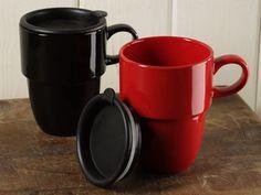 Red and Black Mugs