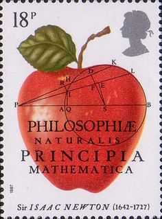300th Anniversary of The Principia Mathematica by Sir Isaac Newton 18p Stamp (1987) The Principia Mathematica