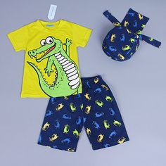 Active boys sets boy shorts Cartoon suits summer short sleeve T-shirt + plaid pants + hat 3 pieces clothing set Check it out! Visit our store
