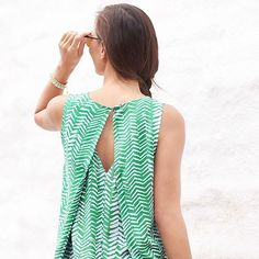 Split-back tops with a built-in layer are bra-friendly and summer approved. #partyintheback