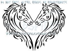 Dual Thoroughbreds Heart Design by WildSpiritWolf