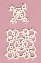 Small square motif and a large square motif with 1 more round added to small one.